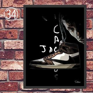 TRAVIS SCOTT AIR jordan1コミックシューズ ポスター1枚(スニーカー)