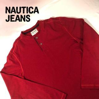 ノーティカ(NAUTICA)のノーティカ ジーンズ ロンT レッド ビッグサイズ L(Tシャツ/カットソー(七分/長袖))