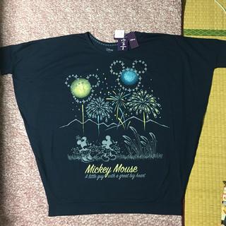 ミッキーマウス(ミッキーマウス)の未着用 タグ付き ミッキーマウス&ミニーマウス ドルマン トップス Mサイズ(Tシャツ(半袖/袖なし))