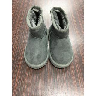 プティマイン(petit main)のpetit main プティマイン  ムートンブーツ グレー 14cm 新品(ブーツ)