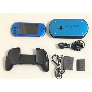 プレイステーションポータブル(PlayStation Portable)のPSP本体 3000 ソフト11本 スタンドグリップ(携帯用ゲーム機本体)