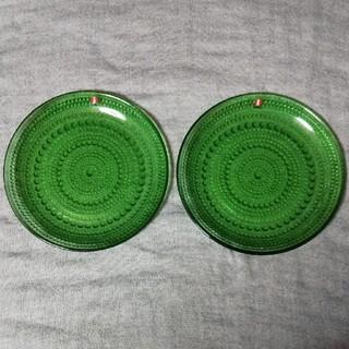 イッタラ(iittala)のカステへルミ  プレート17cm  グリーン  2枚セット(食器)