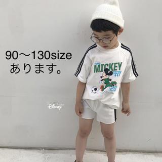 ミッキー サッカーセットアップ 100〜130size(Tシャツ/カットソー)