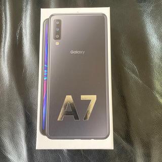 ギャラクシー(Galaxy)のGalaxy A7 ブラック  新品未開封 (携帯電話本体)