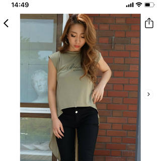 リゼクシー(RESEXXY)のリゼクシー カーキ 新品タグなし(Tシャツ(半袖/袖なし))