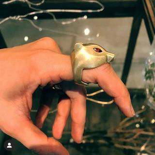 ★8uede★Feris light ring ネコリング(リング(指輪))