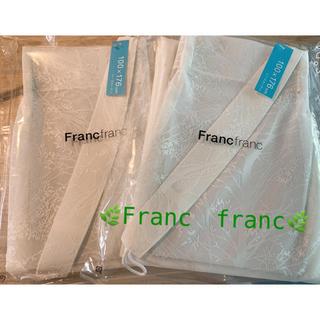 フランフラン(Francfranc)の🍀フランフランレースカーテン2枚セット🍀✨100✖️176(レースカーテン)