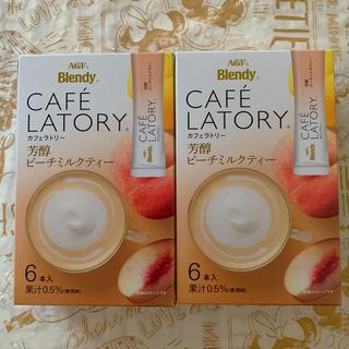 エイージーエフ(AGF)のカフェラトリー 芳醇ピーチミルクティー 6本入り 2箱(茶)