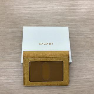 サザビー(SAZABY)の未使用品 サザビー パスケース カード入れ マスタード(パスケース/IDカードホルダー)