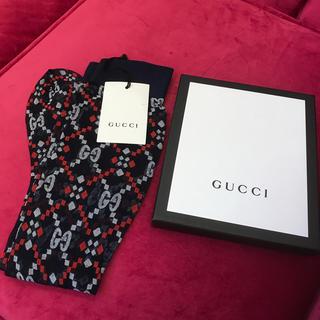 グッチ(Gucci)のGUCCI グッチ ハイソックス  未使用 紺色 箱付き(ソックス)