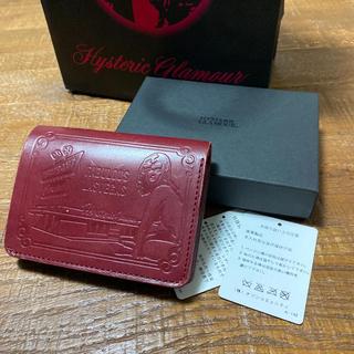 ヒステリックグラマー(HYSTERIC GLAMOUR)の美品 ヒステリックグラマー折り財布 レッド(折り財布)