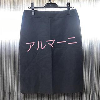 アルマーニ コレツィオーニ(ARMANI COLLEZIONI)のアルマーニ☆ARMANI 灰色 スカート 薄手 (ミニスカート)