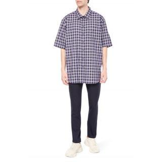 グッチ(Gucci)の8万 GUCCI オーバーサイズ 半袖シャツ 44 国内本物 グッチ プレゼント(シャツ)