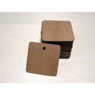 *クラフト紙 下げ札 / カード / タグ*100枚 ジュート紐付き(カード/レター/ラッピング)