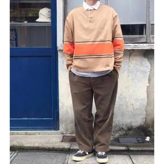 ディガウェル(DIGAWEL)の DIGAWEL ボーダー柄 ボックスシルエット ラガーシャツ(Tシャツ/カットソー(七分/長袖))