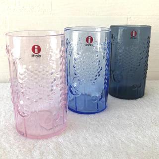 イッタラ(iittala)のイッタラ フローラ  レイン&ペールピンク&アクア 3点セット(グラス/カップ)