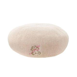 メリージェニー(merry jenny)のメリージェニー  teddy刺繍ベレー merry jenny くま ベレー帽(ハンチング/ベレー帽)