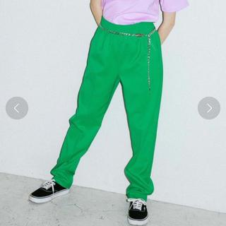 エックスガール(X-girl)のX-girl XGBS EASY PANTS (green)(カジュアルパンツ)