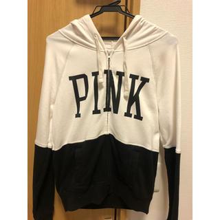 ヴィクトリアズシークレット(Victoria's Secret)の【Victoria's secret 】pinkフード付きパーカーXS (パーカー)