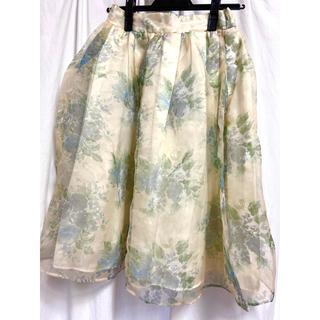 ダズリン(dazzlin)のダズリン 花柄シフォンスカート(ひざ丈スカート)