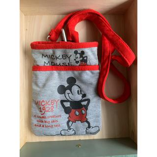 ディズニー(Disney)のミッキー ディズニー ショルダー ウエストポーチ グレー(ボディバッグ/ウエストポーチ)