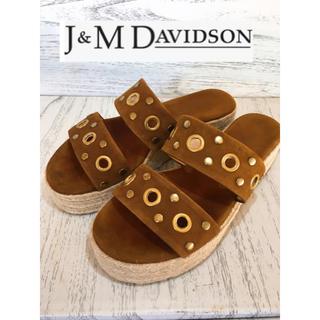 ジェイアンドエムデヴィッドソン(J&M DAVIDSON)のJ&M DAVIDSON ウェッジソール サンダル 美品(サンダル)