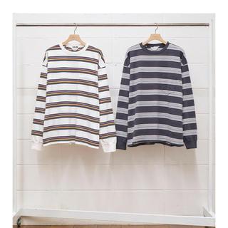 アンユーズド(UNUSED)の即完売 20ss  unused BORDER LS T-SHIRT  ロンT(Tシャツ/カットソー(七分/長袖))