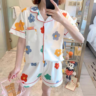 ジェラートピケ(gelato pique)のflower Pajamas ♡(ルームウェア)