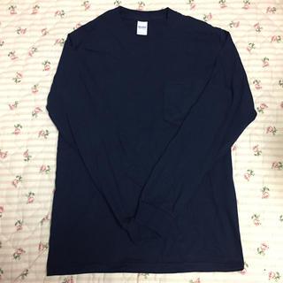 ギルタン(GILDAN)のギルダン ポケットロンT ネイビー S 未使用(Tシャツ/カットソー(七分/長袖))