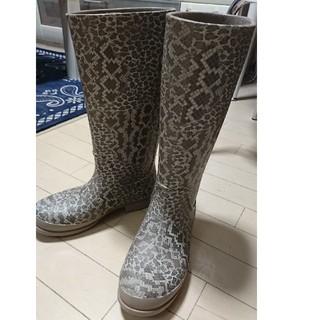クロックス(crocs)のクロックス ウェリー レパード プリント ブーツ ウィメンズ  w7 23センチ(レインブーツ/長靴)