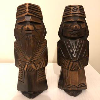 木彫り 人形 フィギュア 置物(彫刻/オブジェ)