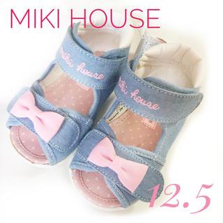 mikihouse - ミキハウス リボン サンダル 12.5
