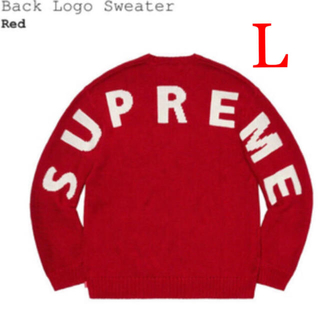 シュプリーム(Supreme)のSupreme Back Logo Sweater L(ニット/セーター)