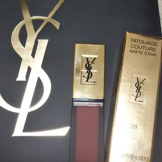 イヴサンローランボーテ(Yves Saint Laurent Beaute)の新品未使用品】YSL タトワージュクチュール 28(口紅)
