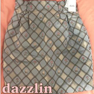 ダズリン(dazzlin)のdazzlin ダスティカラー花柄ゴブリンスカート タグ付き新品(ミニスカート)
