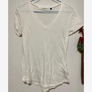 ラグナムーン(LagunaMoon)のLagunamoon ラグナムーン Vネック Tシャツ 白(Tシャツ(半袖/袖なし))
