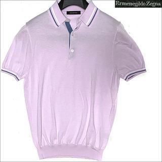エルメネジルドゼニア(Ermenegildo Zegna)のJ3009 新品 エルメネジルドゼニア ニット ポロシャツ ピンク 46(ポロシャツ)