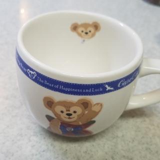 ダッフィー(ダッフィー)のダッフィーのカップと小さいお皿セット(キャラクターグッズ)