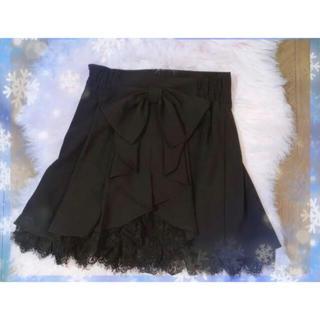 シークレットハニー(Secret Honey)のSecret Honey スカート ブラック リボン付き(ミニスカート)