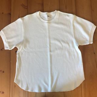 ユニクロ(UNIQLO)のUNIQLO ワッフルクルーネックT五分袖(Tシャツ(半袖/袖なし))