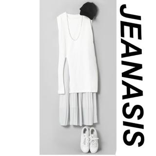 ジーナシス(JEANASIS)の#ジーナシス プリーツスカート  #新品、未使用(ひざ丈スカート)