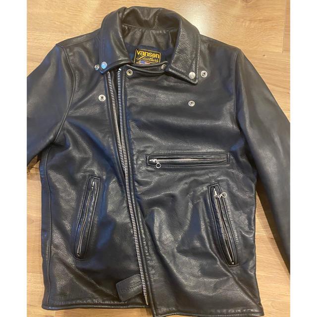 VANSON(バンソン)のvanson navy riders メンズのジャケット/アウター(ライダースジャケット)の商品写真
