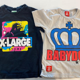 エックスガール(X-girl)のX-LARGE KidsとベビードールTシャツ♡(Tシャツ/カットソー)
