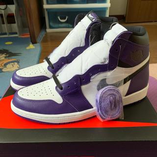 ナイキ(NIKE)のNike air jordan 1 court purple 30cm (スニーカー)