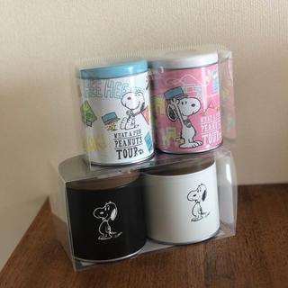 スヌーピー(SNOOPY)の【さく様専用】USJお菓子 スヌーピーお菓子缶2セット(菓子/デザート)