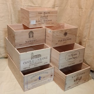 ワイン木箱 木箱いっぱい福袋 No515(小物入れ)