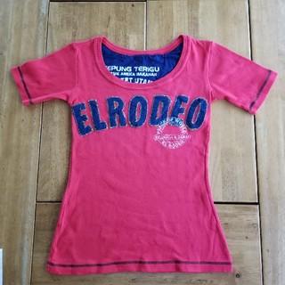 エルロデオ(EL RODEO)のELRODEO★デニムロゴカットソー(カットソー(半袖/袖なし))