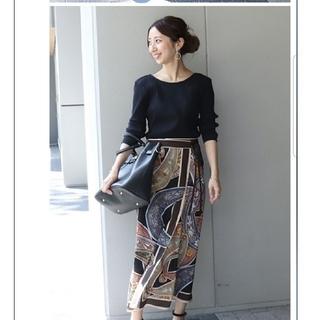 スピックアンドスパンノーブル(Spick and Span Noble)の[新品未使用] NOBLE スカーフプリントアシメスカート(ロングスカート)