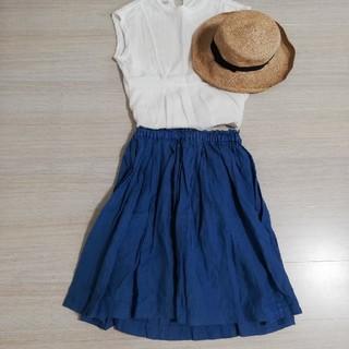 ドットアンドストライプスチャイルドウーマン(Dot&Stripes CHILDWOMAN)の CHILD WOMAN リネンひざ丈スカート(ひざ丈スカート)