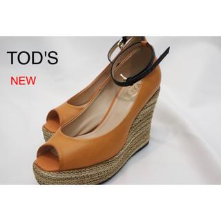 トッズ(TOD'S)のTOD'S ウェッジソール 新品未使用 35(サンダル)